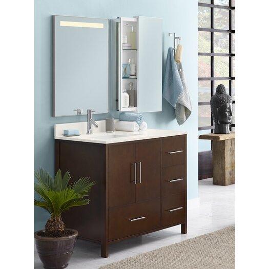 """Ronbow Contempo Juno 38"""" Single Bathroom Vanity Set with Mirror"""