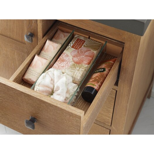"Ronbow Neo-Classic Briella 37"" W Wood Vintage Honey Cabinet Vanity Set"