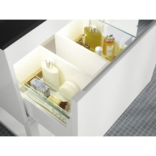 """Ronbow Contempo Chloe 36"""" W Wood Glossy White Cabinet Vanity Set"""