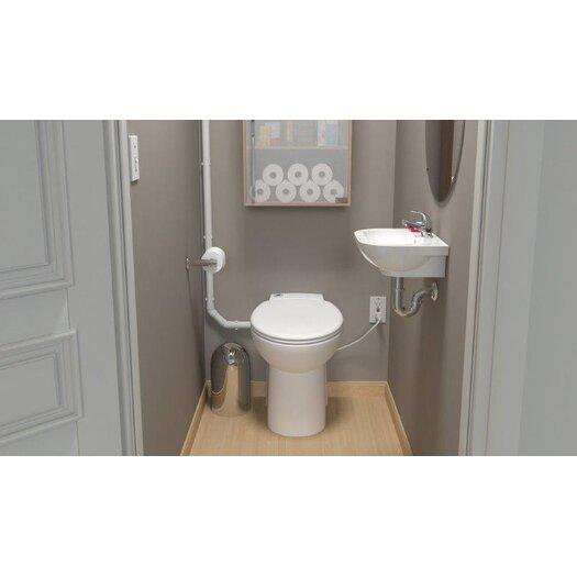 Saniflo Sanicompact 48 Elongated 1 Piece Toilet
