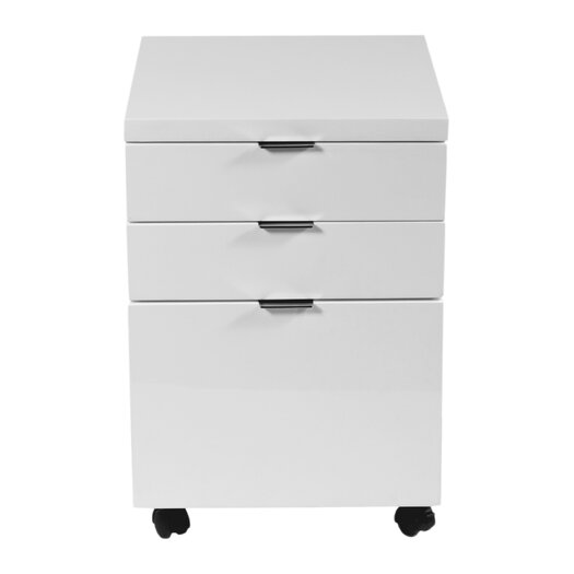 Eurostyle Gilow 3-Drawer Mobile Backert File Cabinet