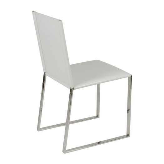 Eurostyle Cora leather Dining Chair in White