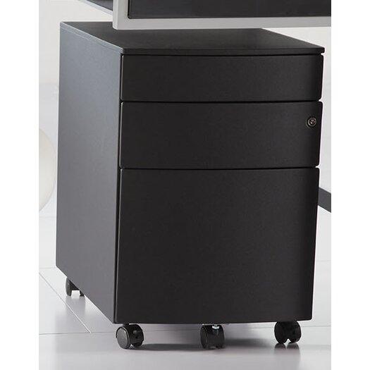 Eurostyle Floyd 3-Drawer Mobile Filing Cabinet