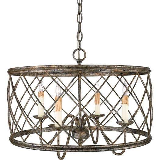 Quoizel Dury 4 Light Drum Pendant