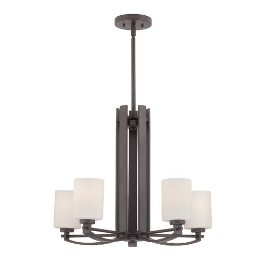 Quoizel Taylor Five Light Chandelier in Western Bronze