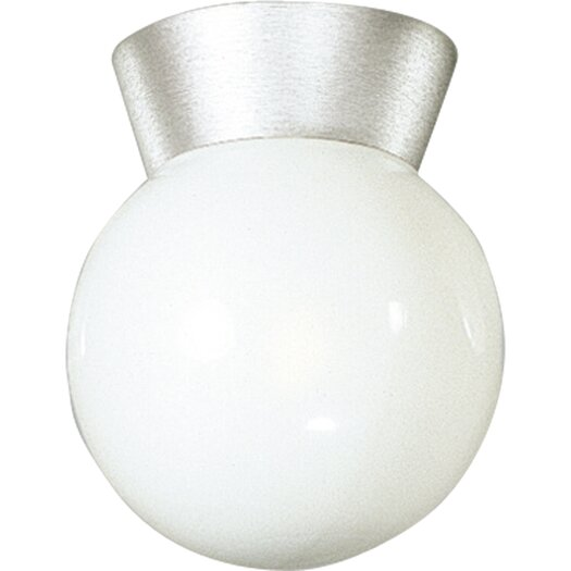 Progress Lighting Cast Aluminum Incandescent 1 Light Globe Semi-Flush Mount
