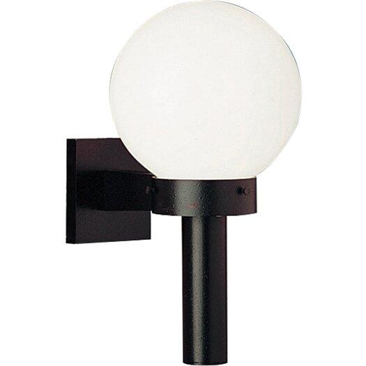 Progress Lighting Cast Aluminum Incandescent 1 Light Globe Outdoor Wall Sconce