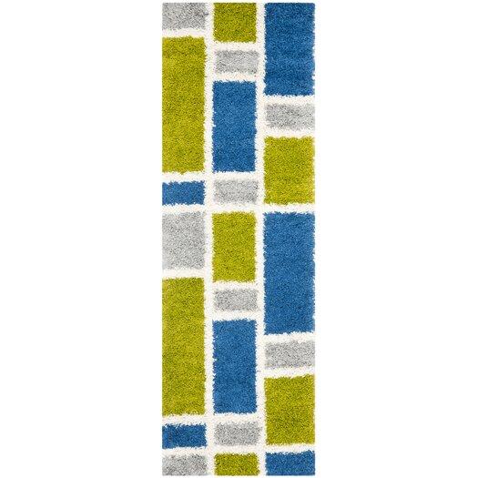 Safavieh Shag Blue and Green Rug