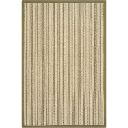 Safavieh Natural Fiber Green Border Rug