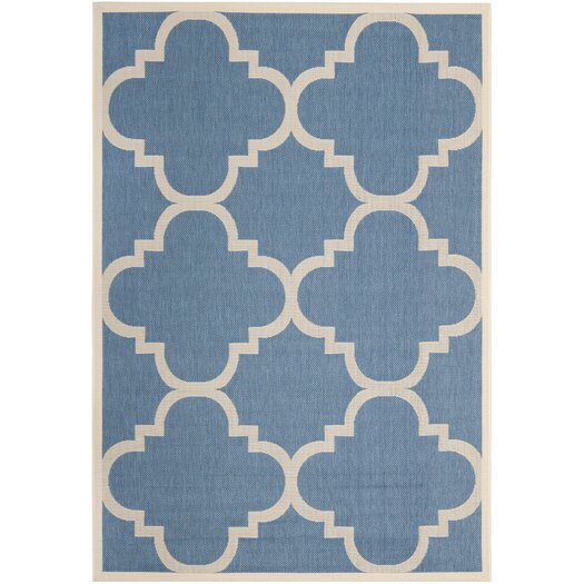 Safavieh Courtyard Lattice Blue Rug