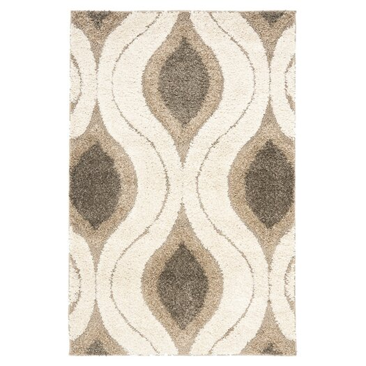 Safavieh Florida Shag Cream/Smoke Area Rug