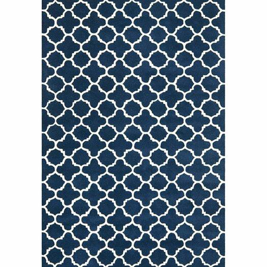 Safavieh Chatham Circle Dark Blue & Ivory Area Rug
