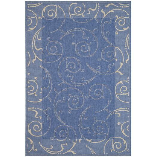 Safavieh Courtyard Blue & Natural Outdoor Area Rug