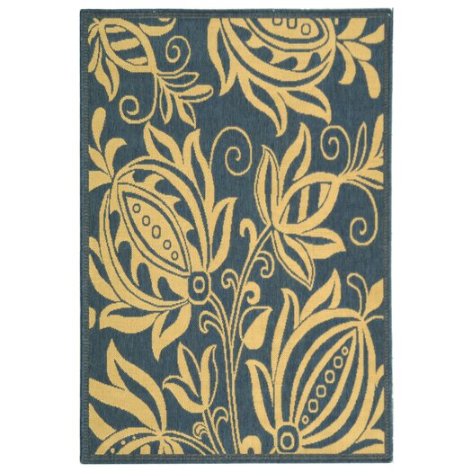 Safavieh Courtyard Blue & Natural Area Rug