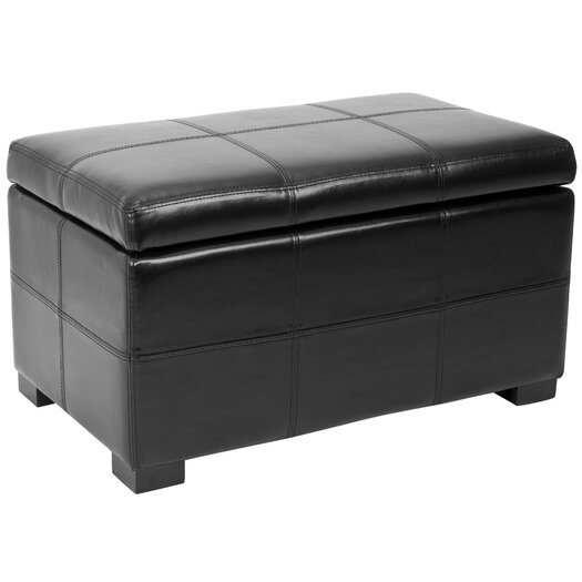 Safavieh Lucas Leather Bedroom Storage Ottoman