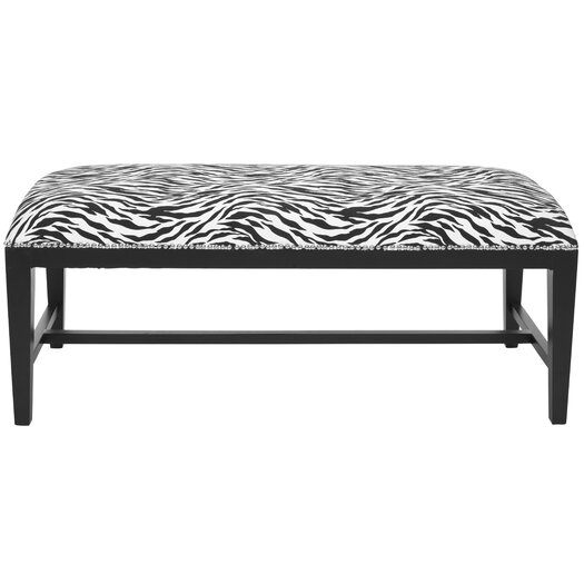 Safavieh Nora Zebra Print Wooden Bench