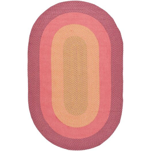 Safavieh Braided Pink/Beige Area Rug