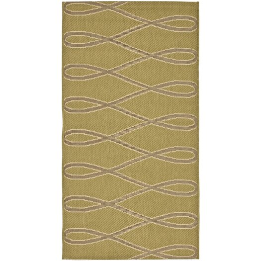 Safavieh Courtyard Olive / Brown Outdoor Area Rug