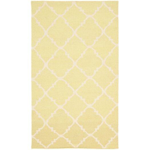 Safavieh Dhurries Green/Ivory Checked Area Rug