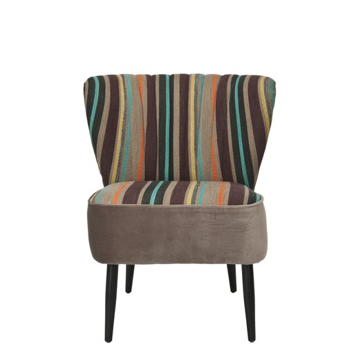 Safavieh Felicity Striped Fabric Slipper Chair