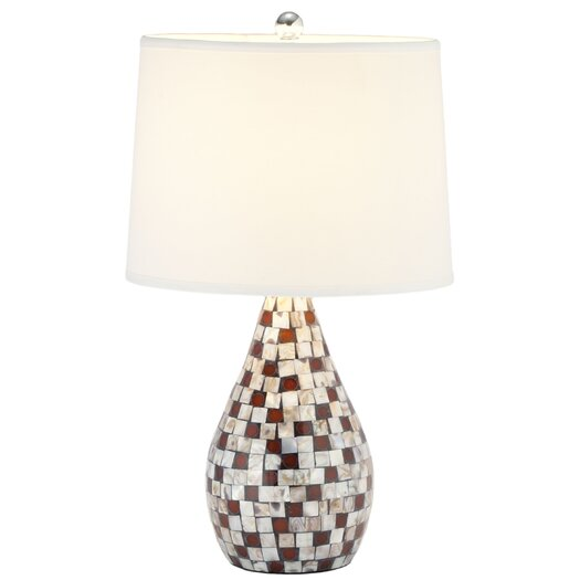 "Safavieh Mother Of Pearl 19.25"" H Table Lamp with Empire Shade"