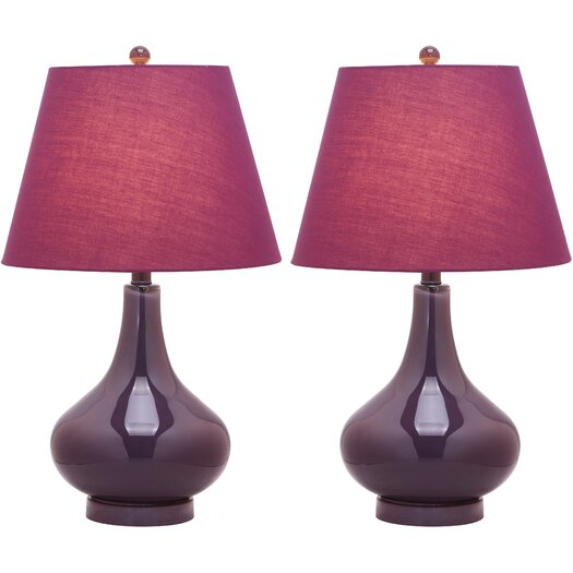 "Safavieh Adams Gourd 24"" H Table Lamp with Empire Shade"