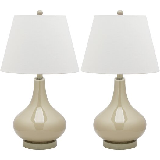 """Safavieh Adams Gourd 24"""" H Table Lamp with Empire Shade"""