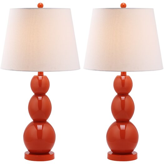 "Safavieh Longview 26"" H Three Sphere Table Lamp with Drum Shade"