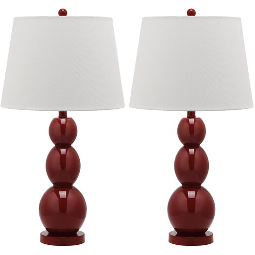 "Safavieh Longview 26"" H Three Sphere Table Lamp with Drum Shade"
