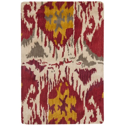 Safavieh Ikat Ivory/Red Area Rug