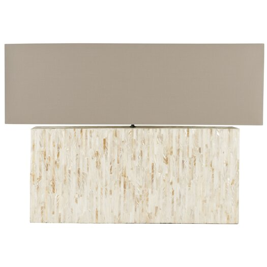 "Safavieh Ayers Mother Of Pearl Tile 15.8"" H Table Lamp with Rectangular Shade"