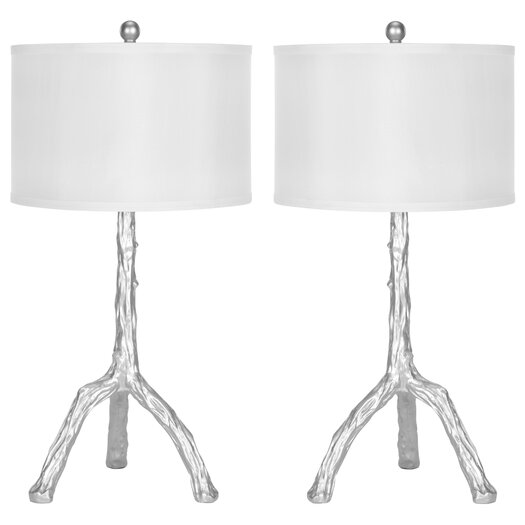 "Safavieh Branch 27.5"" H Table Lamp with Drum Shade"