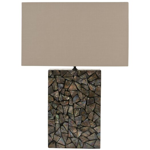 "Safavieh Mosaic Mother of Pearl 16.5"" H Table Lamp with Rectangular Shade"
