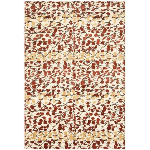 Safavieh Martha Stewart Abstract Trellis Bard Red Area Rug