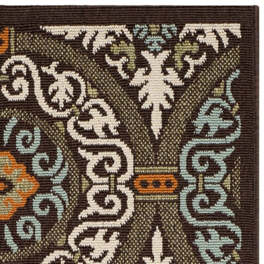 Safavieh Veranda Chocolate & Aqua Area Rug II