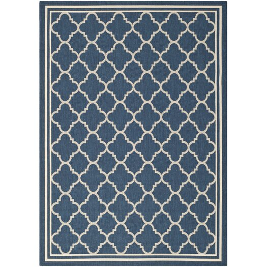 Safavieh Courtyard Grantham Blue/Ivory Outdoor Area Rug