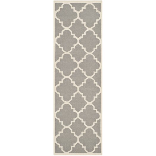 Safavieh Dhurries Grey/Ivory Area Rug