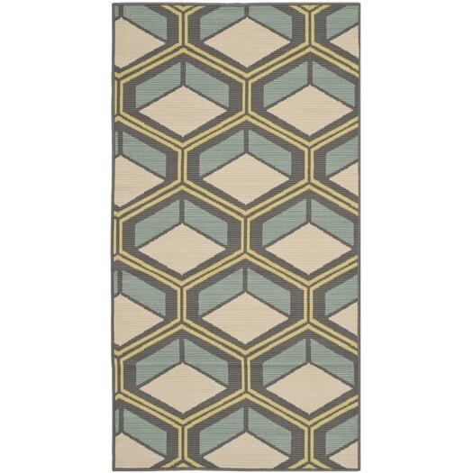 Safavieh Hampton Dark Ivory Geometric Outdoor Area Rug