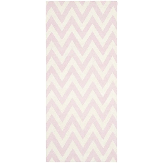 Safavieh Dhurries Pink/Ivory Area Rug