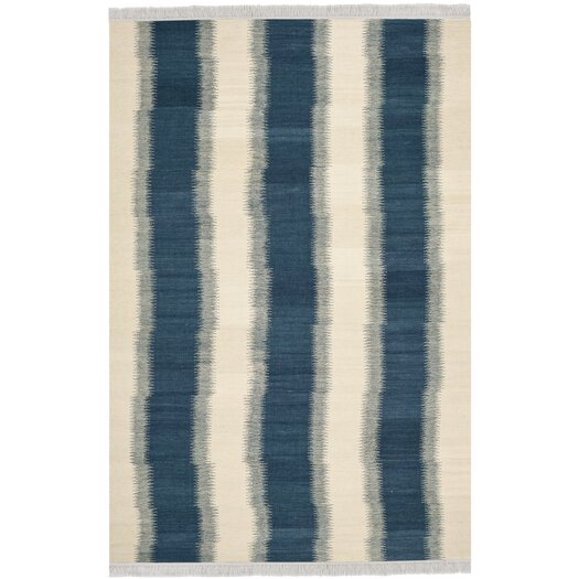 Safavieh Navajo Kilim Blue /Ivory Outdoor Area Rug