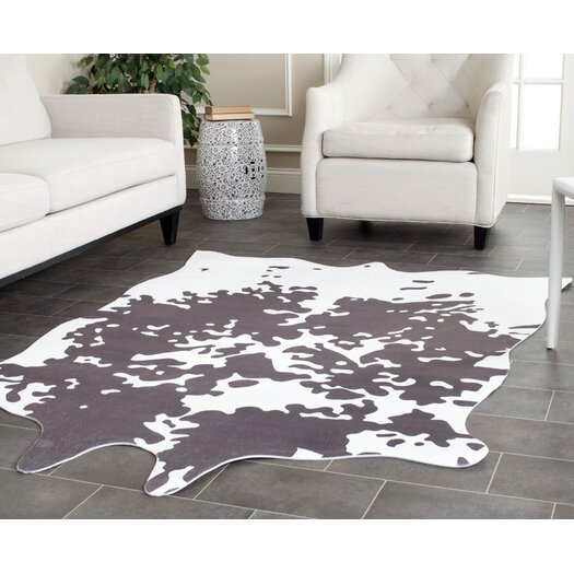 Safavieh Faux Hide Grey/Ivory Area Rug