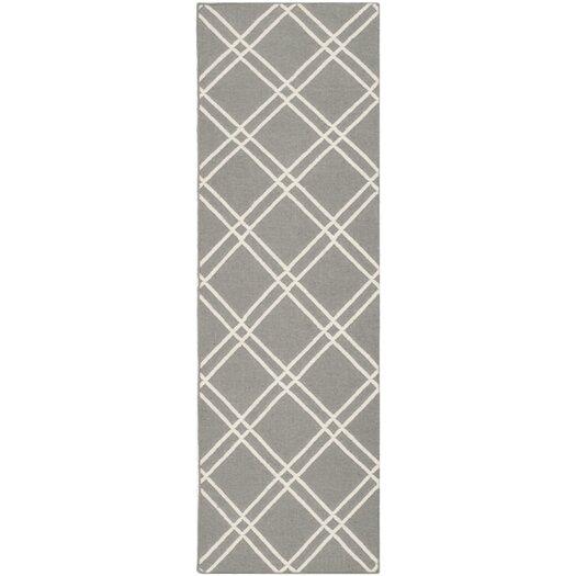 Safavieh Dhurries Grey/Ivory Area Rug