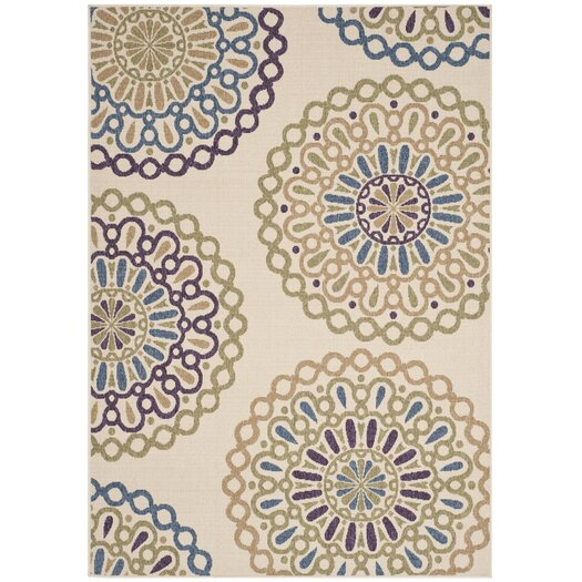 Safavieh Veranda Cream/Green Outdoor Area Rug