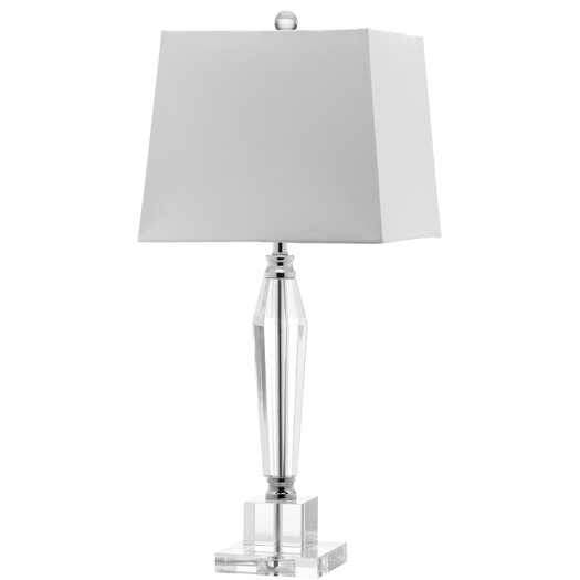 "Safavieh Aiden Faceted 28"" H Table Lamp with Square Shade"