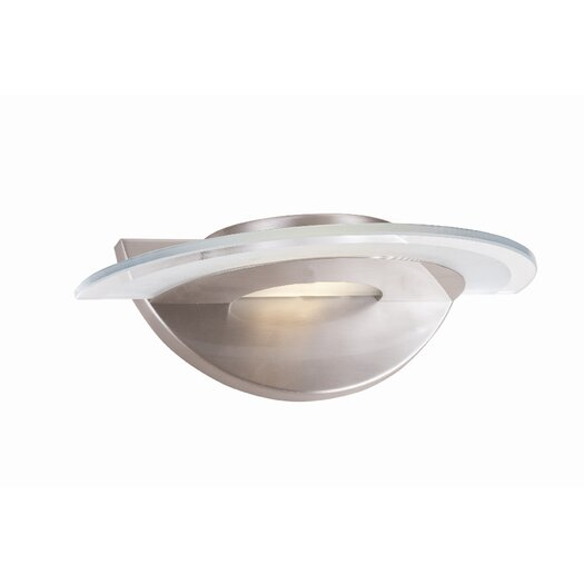 Access Lighting Helius 1 Light Wall Sconce with Center Ring Glass