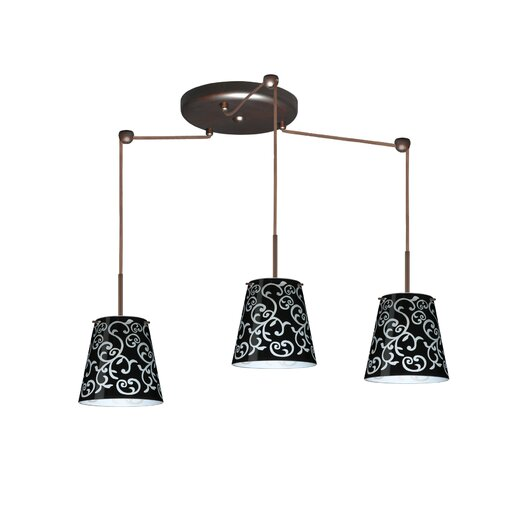 Besa Lighting Amelia 3 Light Mini Pendant
