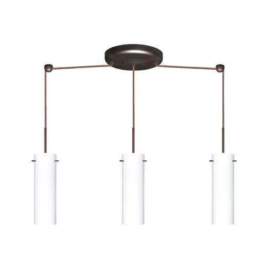 Besa Lighting Copa 3 Light Linear Pendant