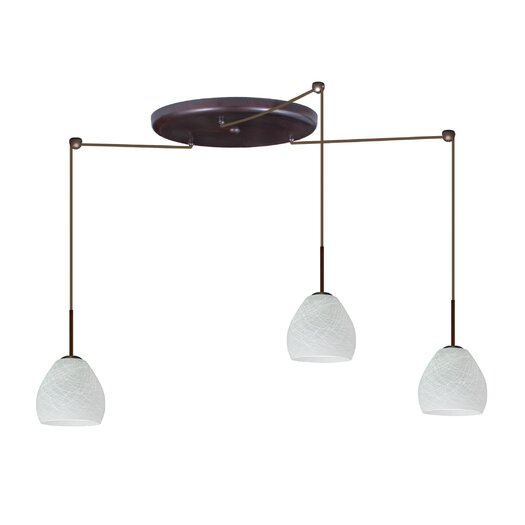 Besa Lighting Bolla 3 Light Mini Pendant