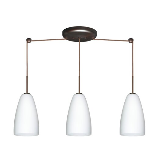 Besa Lighting Riva 3 Light Pendant