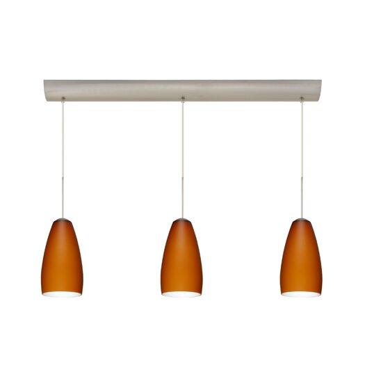 Besa Lighting Chrissy 3 Light Pendant with Bar Canopy
